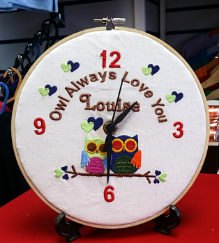 Valentines Day Clock - We Embroider It