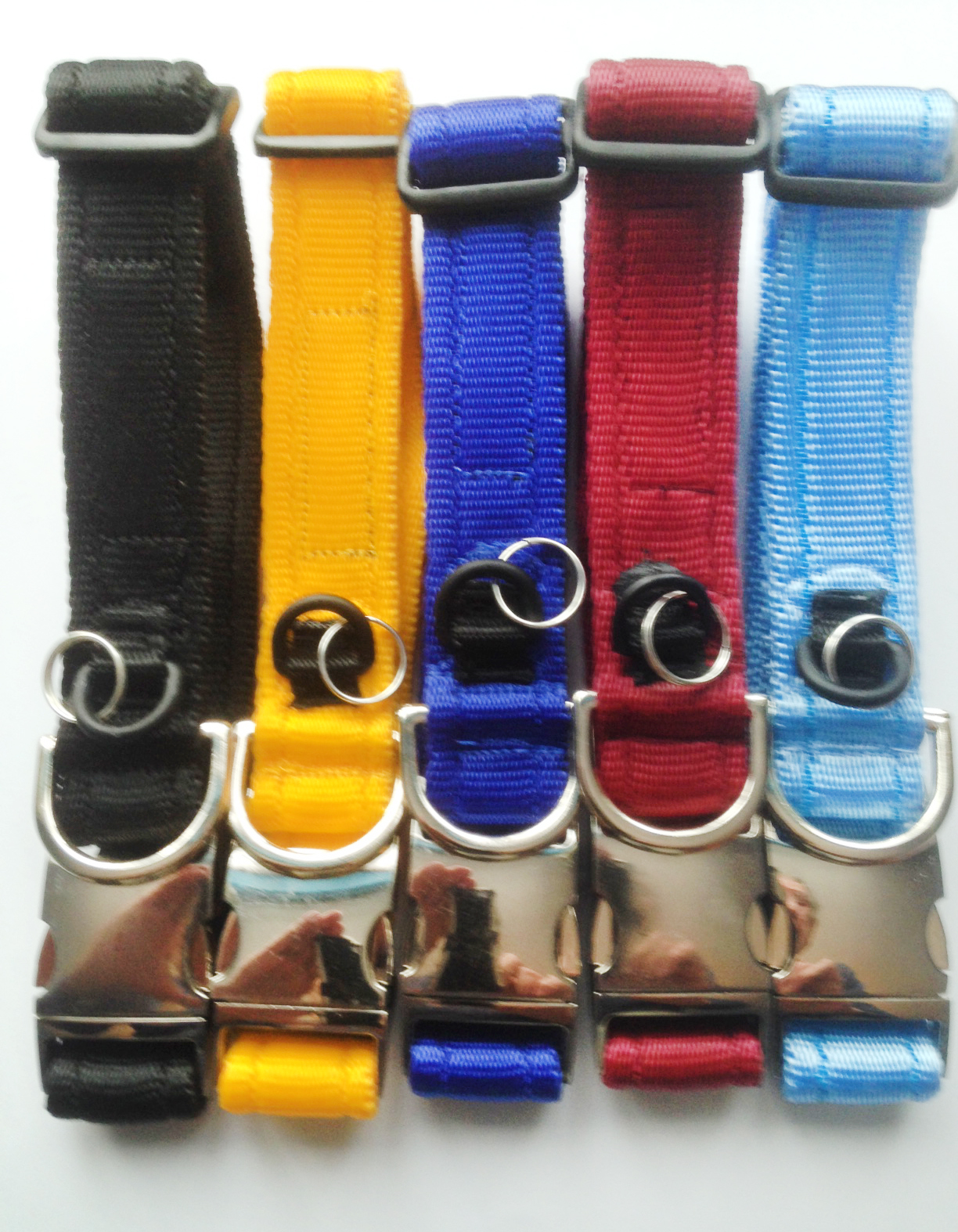 Deluxe Dog Collar Metal Link 19mm-Cushion Web