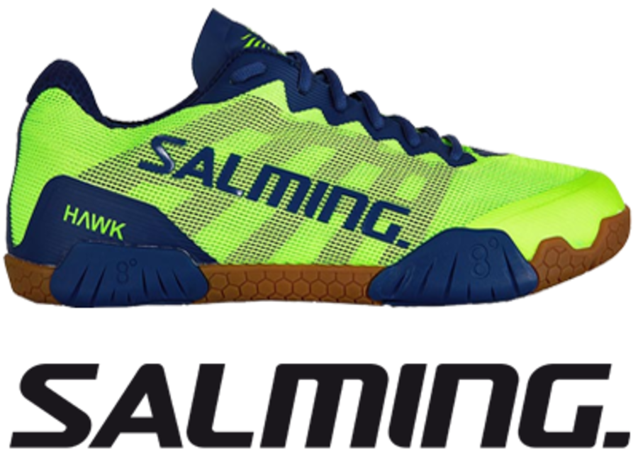 Salming Hawk - Green / Blue - UK 10.0 / US 11.0 / EU 45 1/3