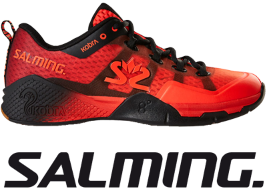Salming Kobra 2 -  Lava Red / Black - UK 10.5 / US 11.5 / EU 46