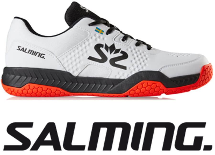Salming Hawk Court - White / Black / Red - UK 8.5 / US 9.5 / EU 43 1/3