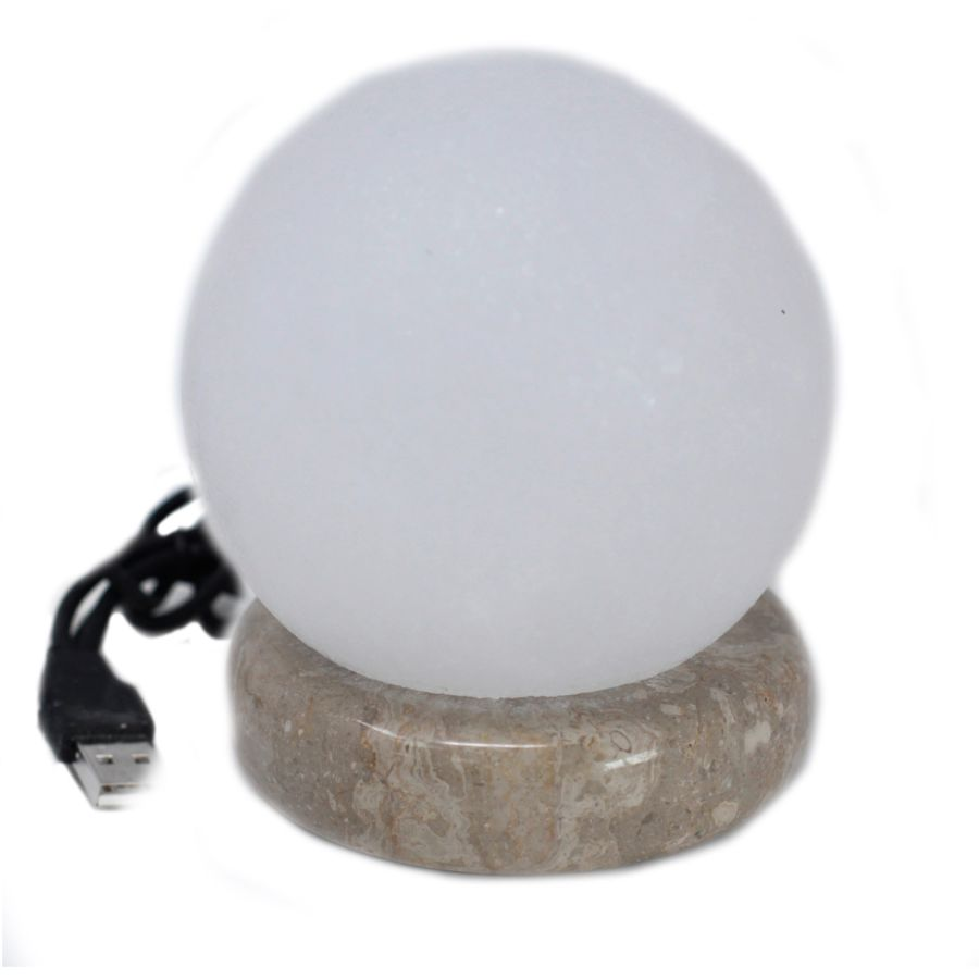 Quality USB Ball WHITE Salt Lamp - 9 cm (multi)