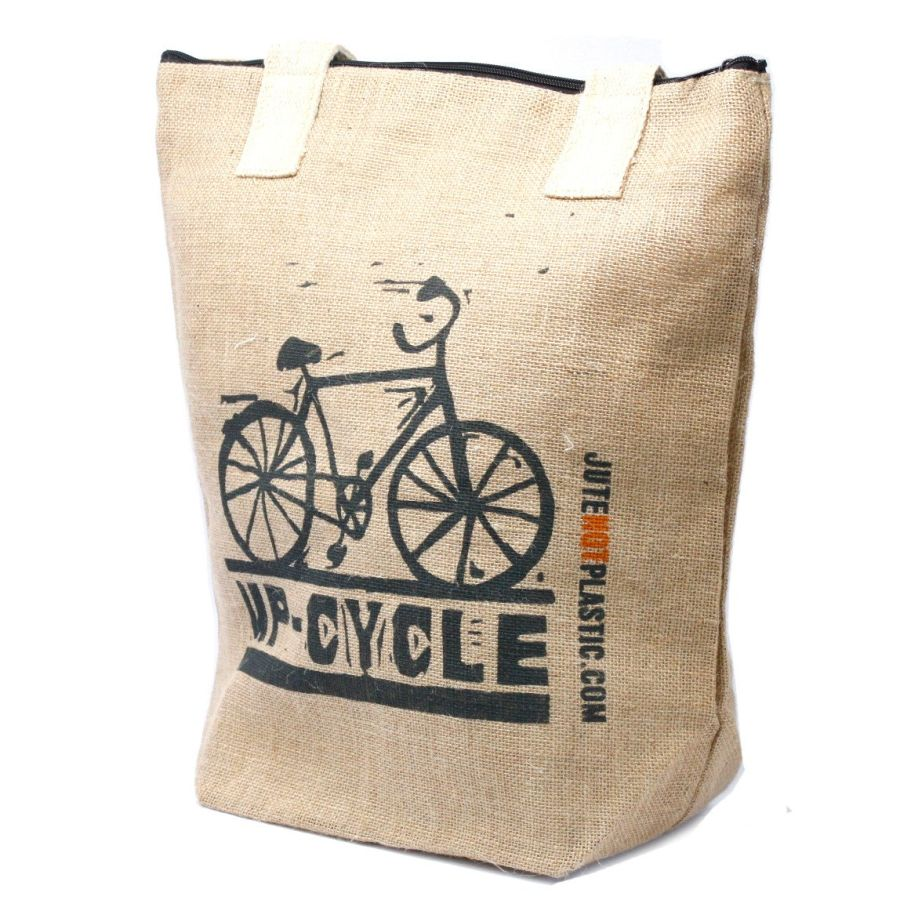 Eco Jute Bag - Up Cycle - (4 assorted designs)