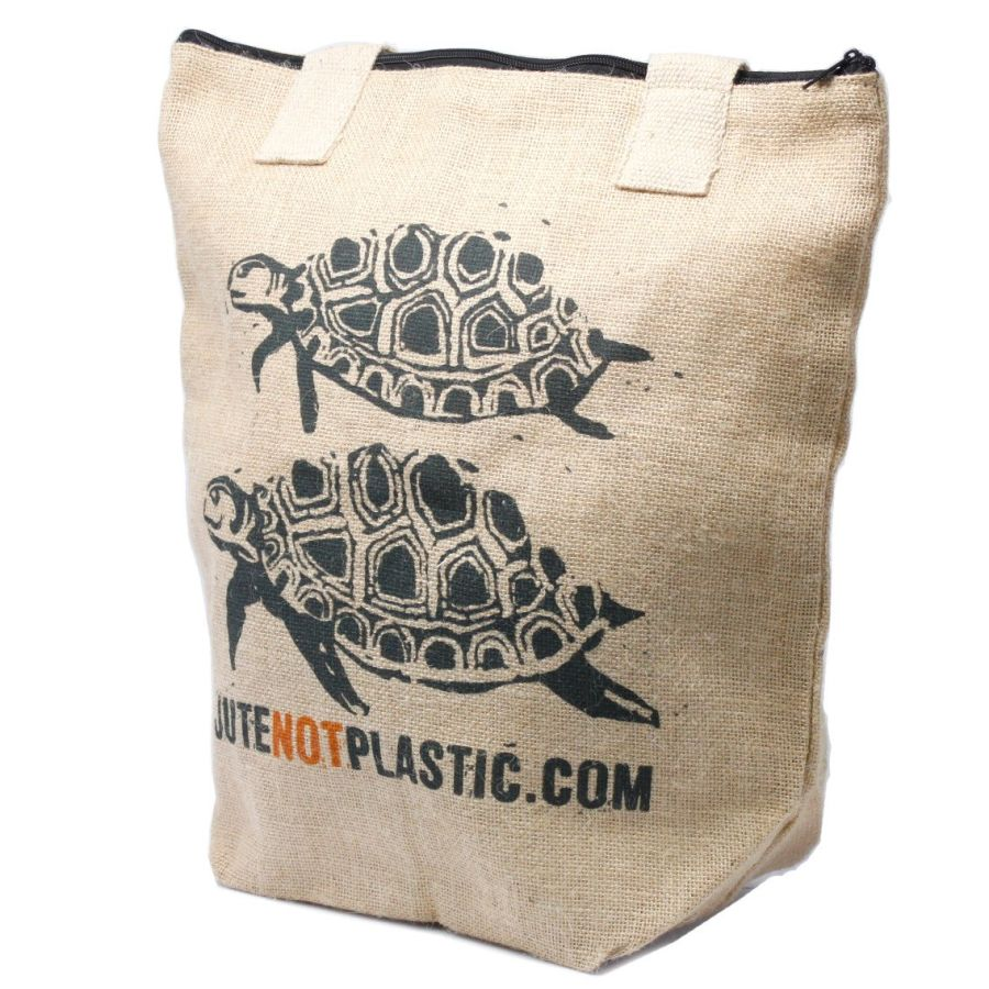 Eco Jute Bag - Two Turtles - (4 assorted designs)