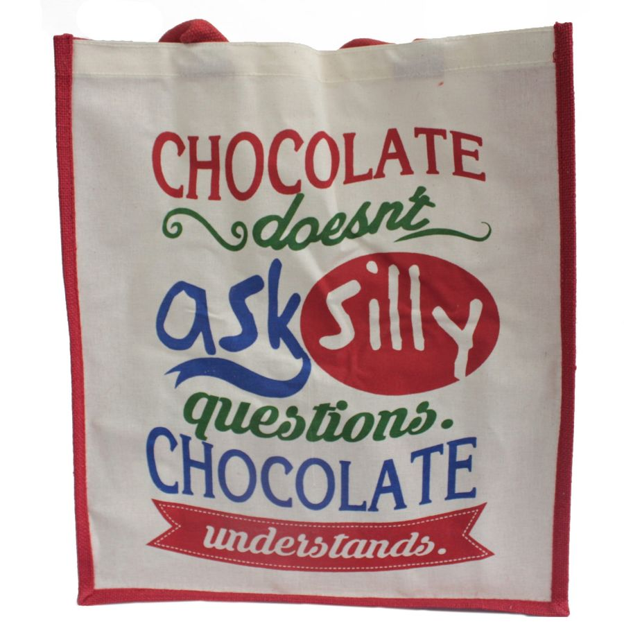Jute Bag - Chocolate Doesn't Ask