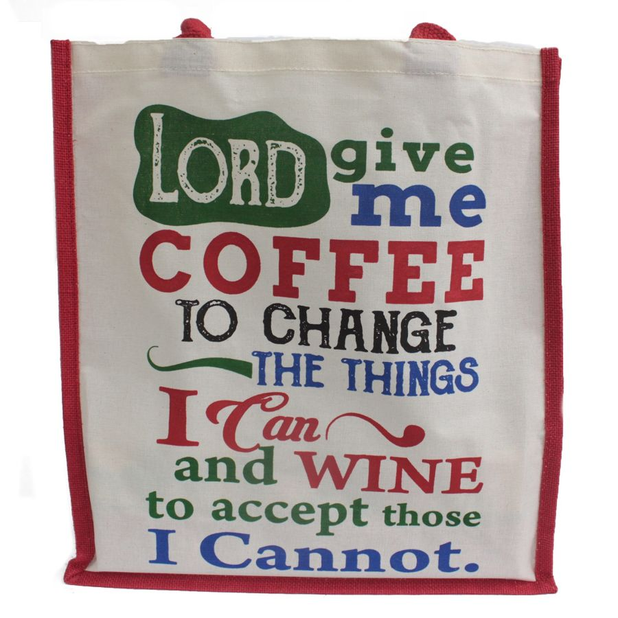 Jute Bag - Lord Give Me Coffee