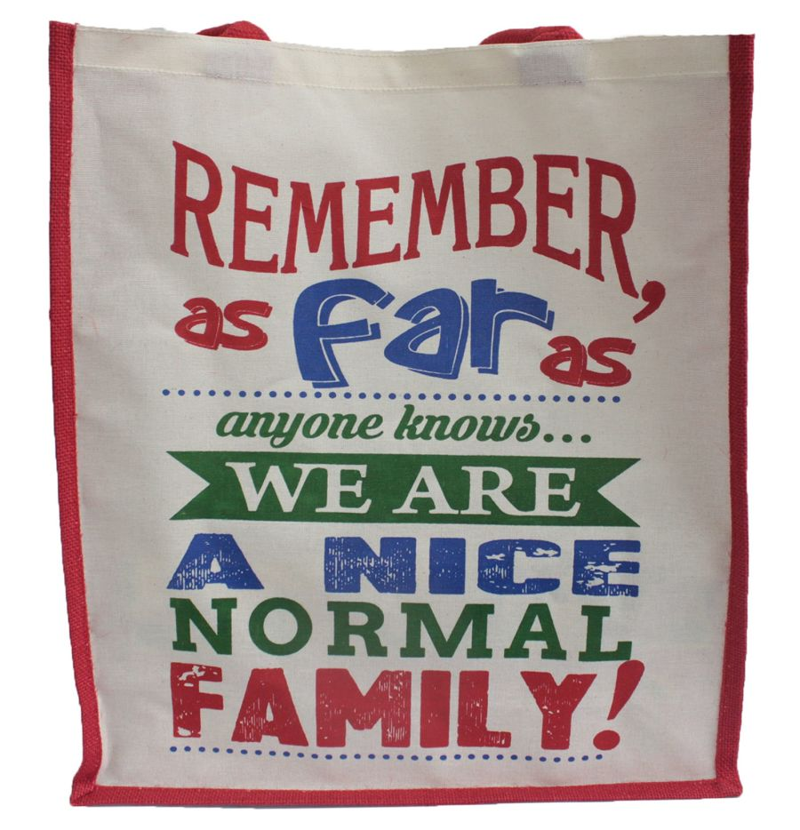 Jute Bag - A Nice Normal Family