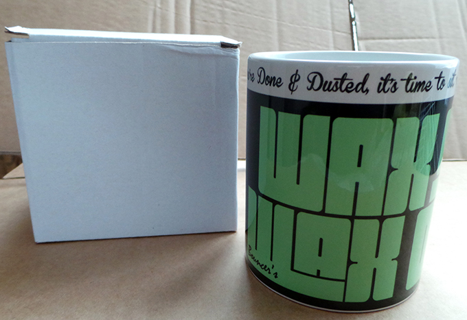Bouncer's 'Wax on Wax Off' Mug