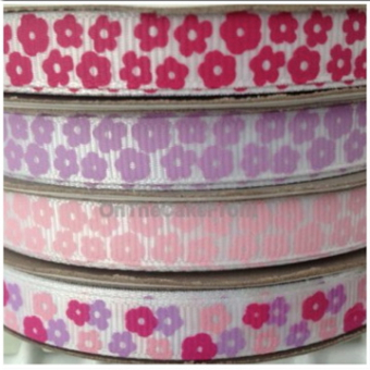 1m Grosgrain 10mm wide flower ribbon