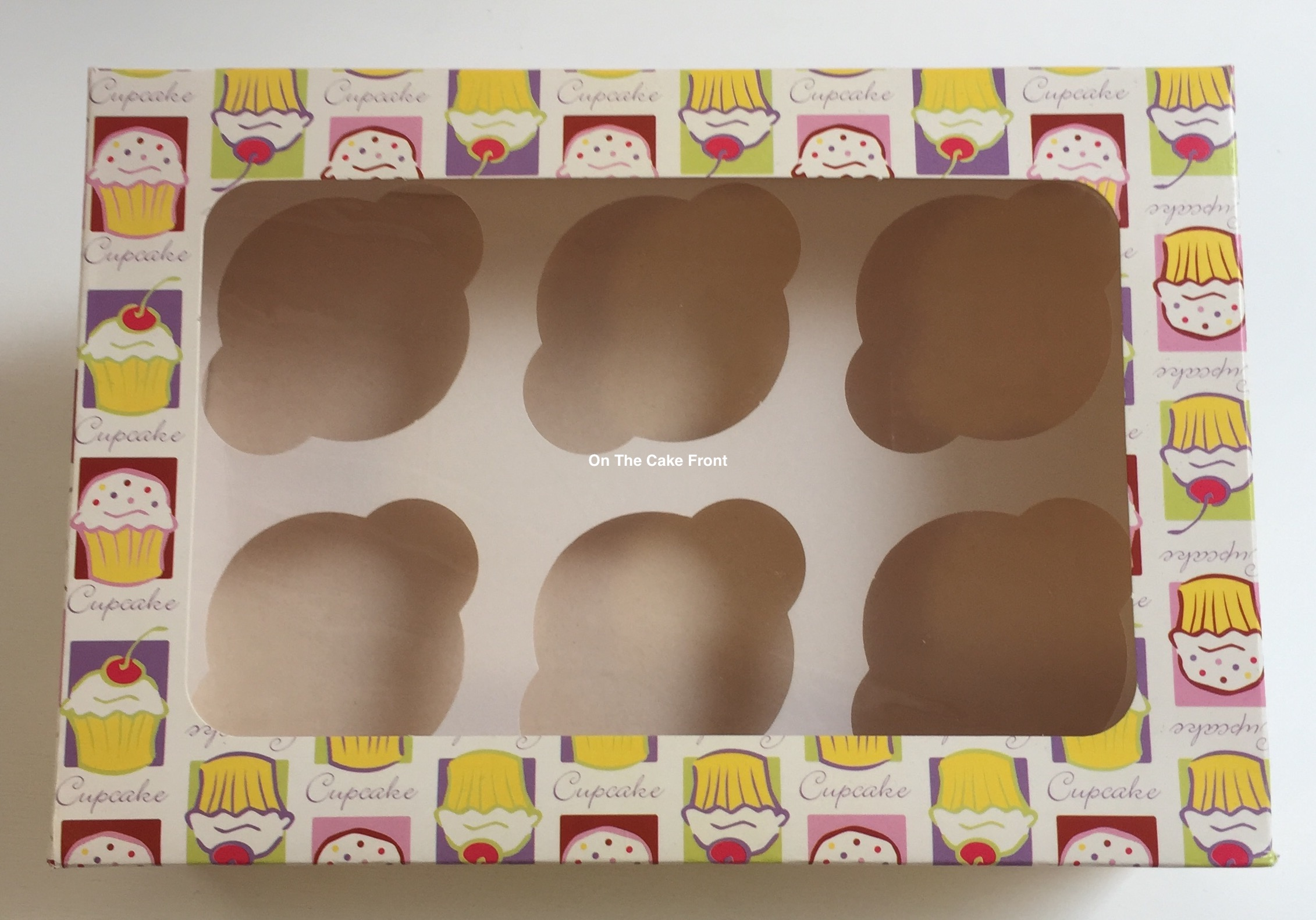 Cupcake boxes pattern gift boxes holds 6 cup cakes + inserts