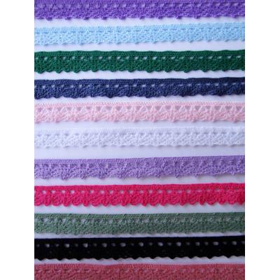 1m Cotton lace ribbon 10mm wide