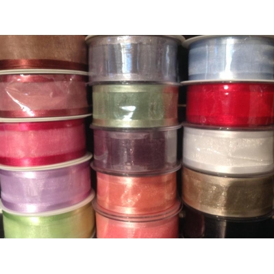 1m Satin edge organza ribbon 40mm Wide