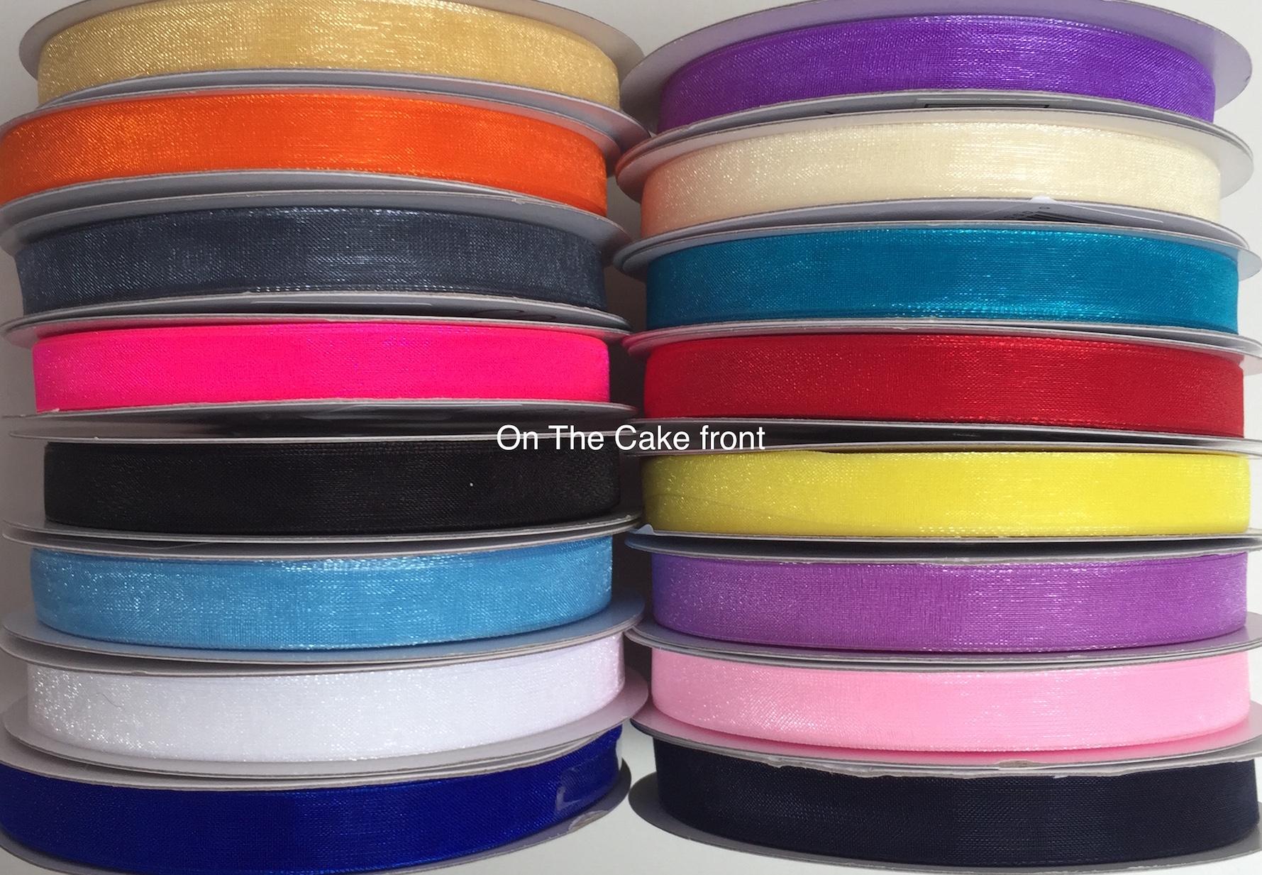 Organza chiffon ribbon 45m roll 10mm wide