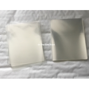 50 Clear cellophane bags 85mm x 110mm