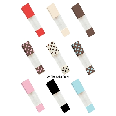 10 Cello bags coloured pattern spotty