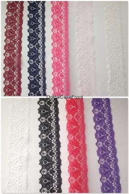 1m Lace ribbon 35mm wide scalloped