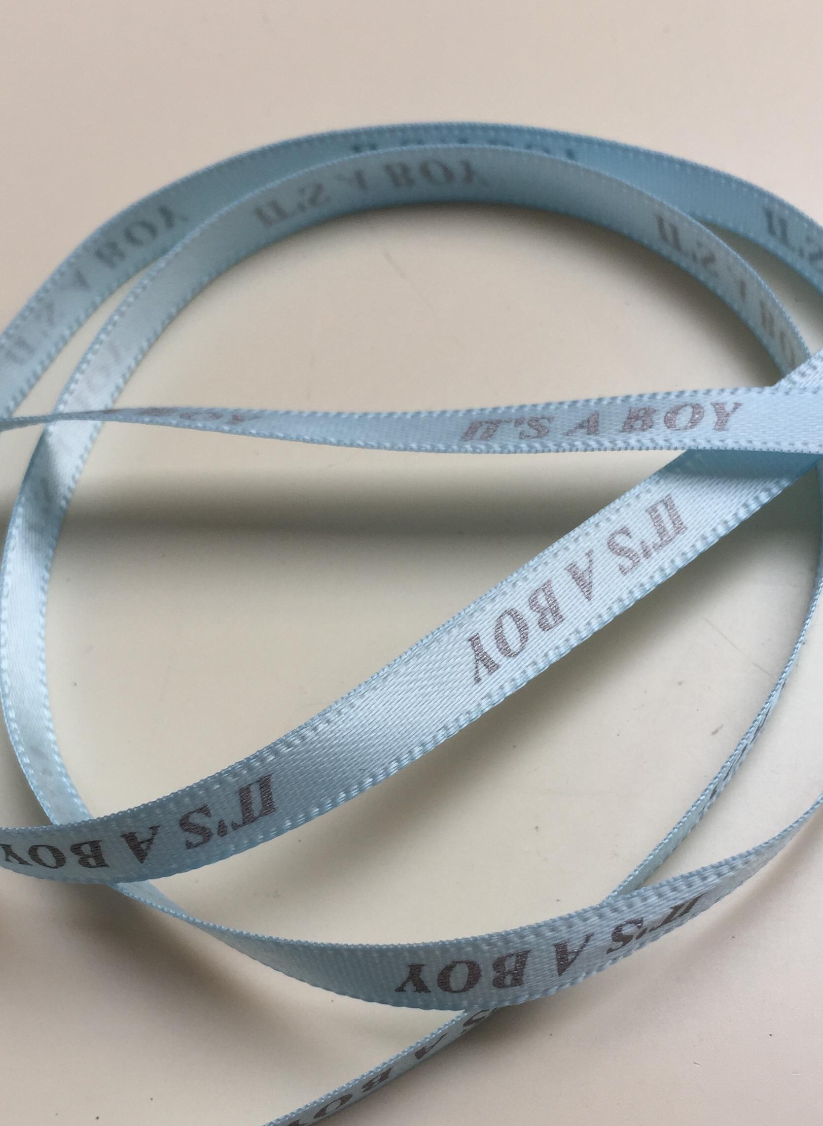 1m Its a boy satin ribbon 6mm wide