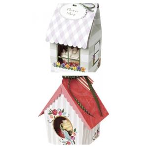 meri meri cupcake box small various designs 4pk, holds 1