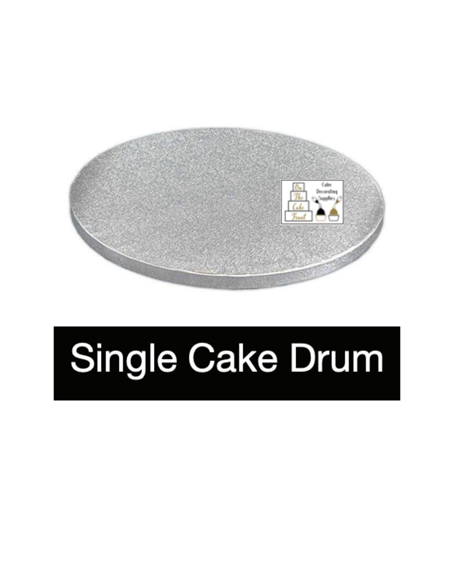 10 Inch ROUND Silver cake drum board