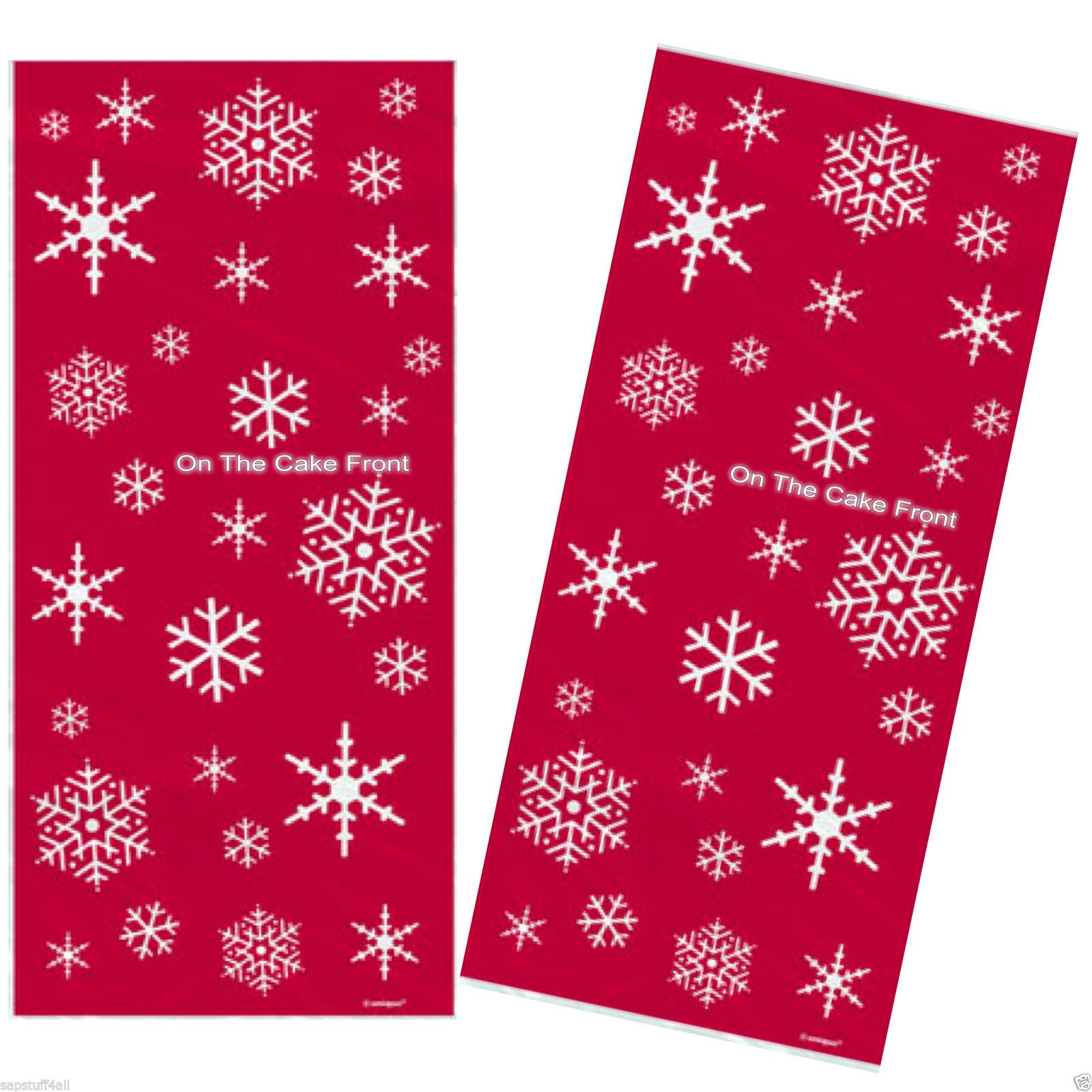 20 sparkle tree red christmas cellophane bags
