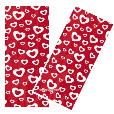 20 Hearts A Fire cellophane bags & twist ties