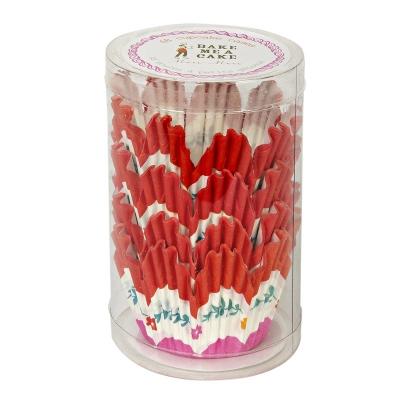 48 Red Pink petal cupcake cases Meri Meri