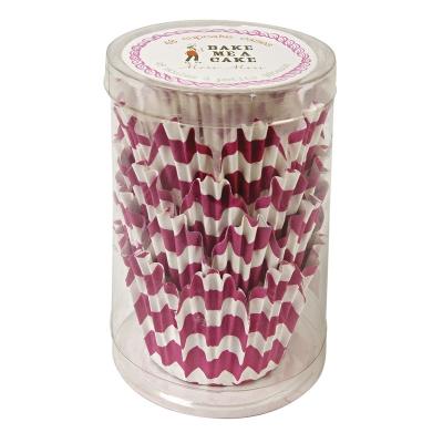 48 Pink chevron petal shaped cupcake cases Meri Meri