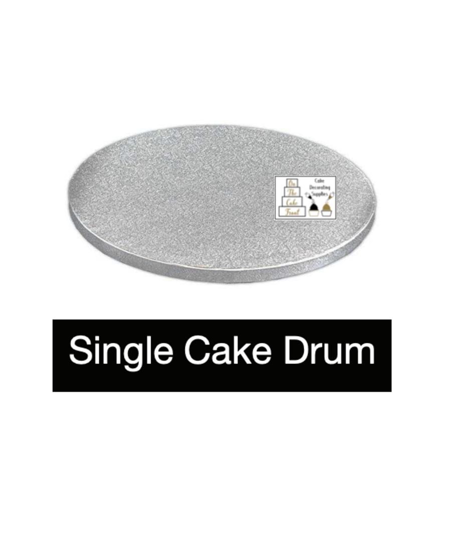 12 Inch ROUND Silver cake drum board