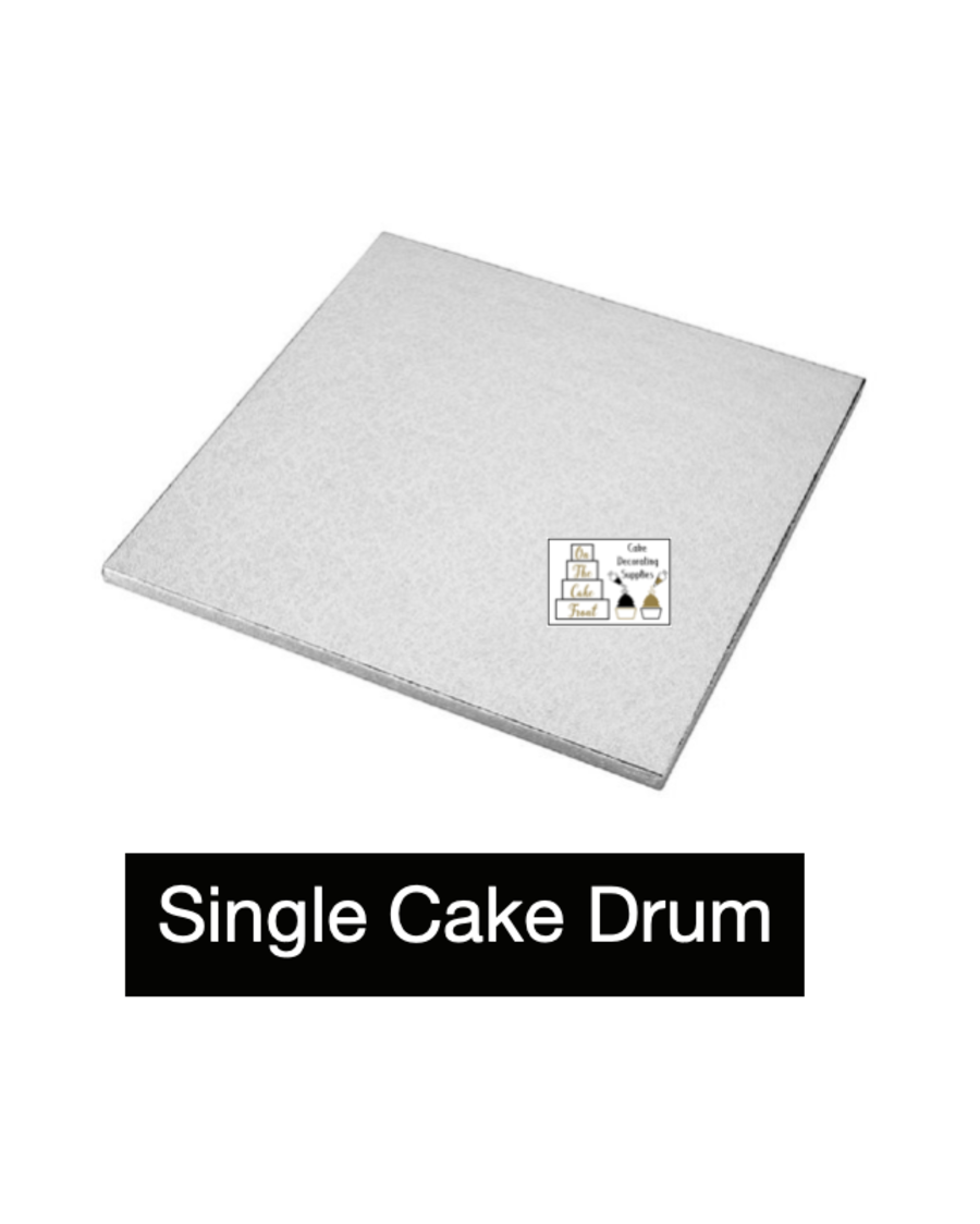 9'' inch SQUARE Silver cake drum board