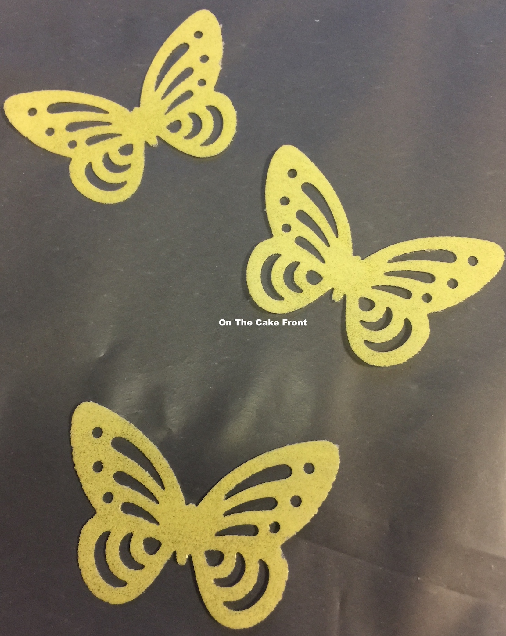 20 Yellow butterflies edible wafer rice paper cake toppers