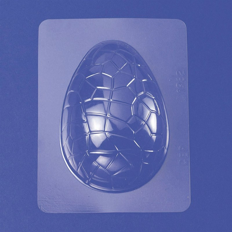 Large cracked Easter egg plastic chocolate mould