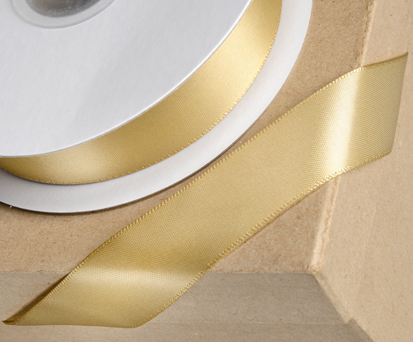 Gold 38mm Double-sided Satin Ribbon 1m