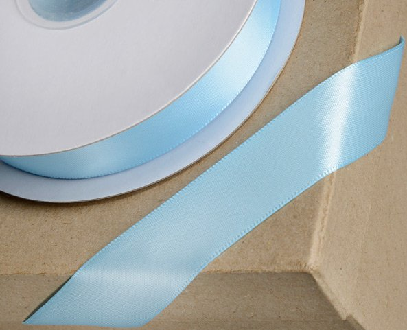 Blue 38mm Double-sided Satin Ribbon 1m