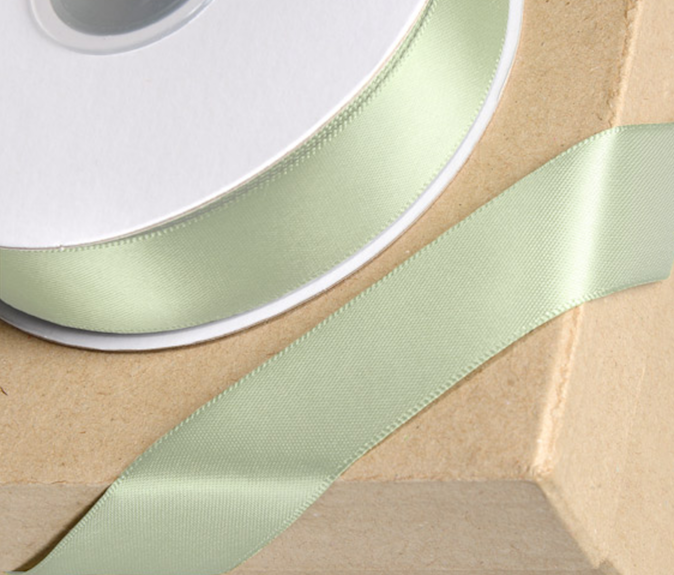 Mint Green 38mm Double-sided Satin Ribbon 1m