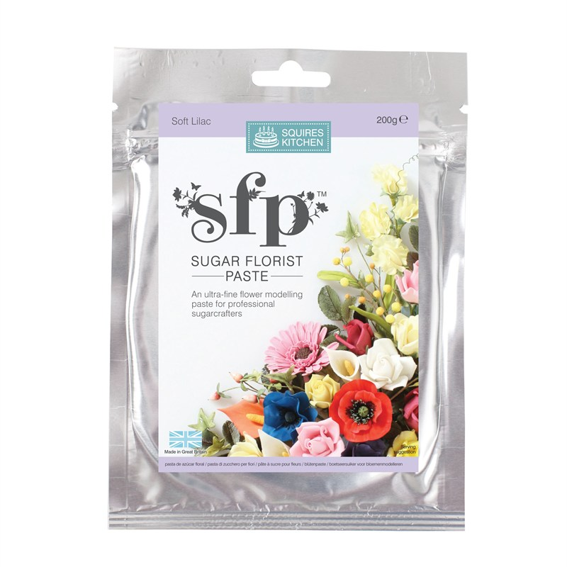 Soft Lilac Squires sugar flower paste (SFP) 200g