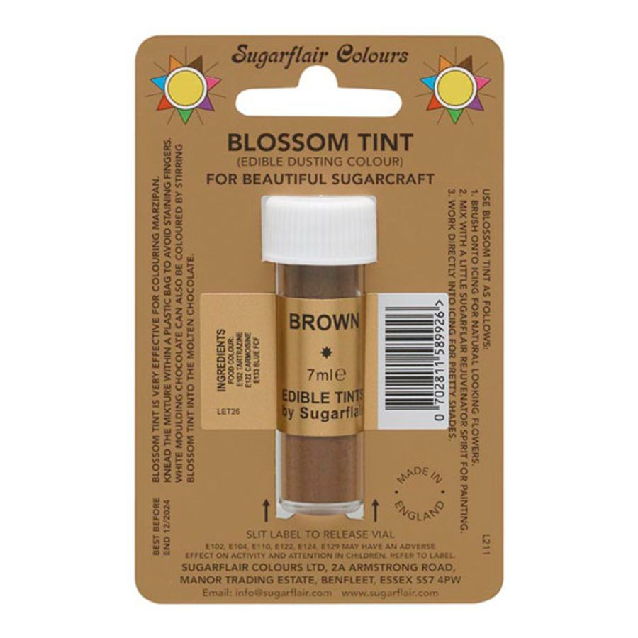 Sugarflair Brown Blossom tint dust 7ml