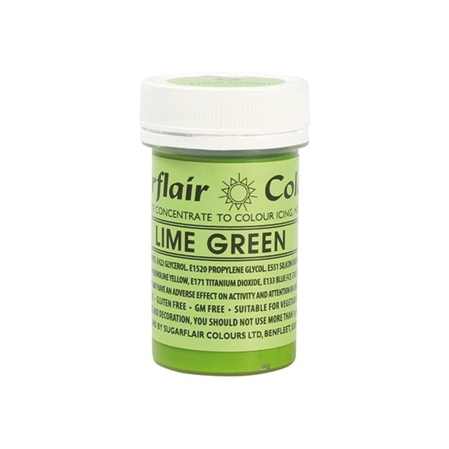 Sugarflair Lime Green food colouring Paste 25g