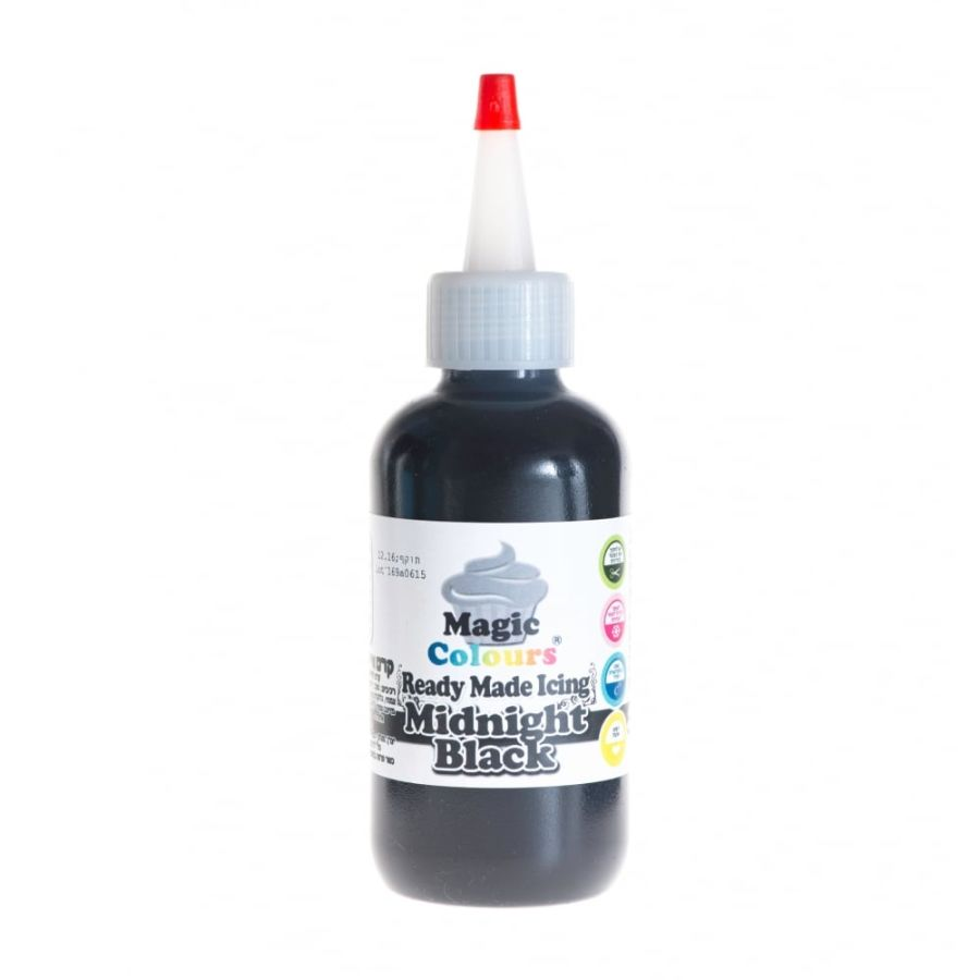 Magic Colours Midnight Black Ready Made Icing 165ml