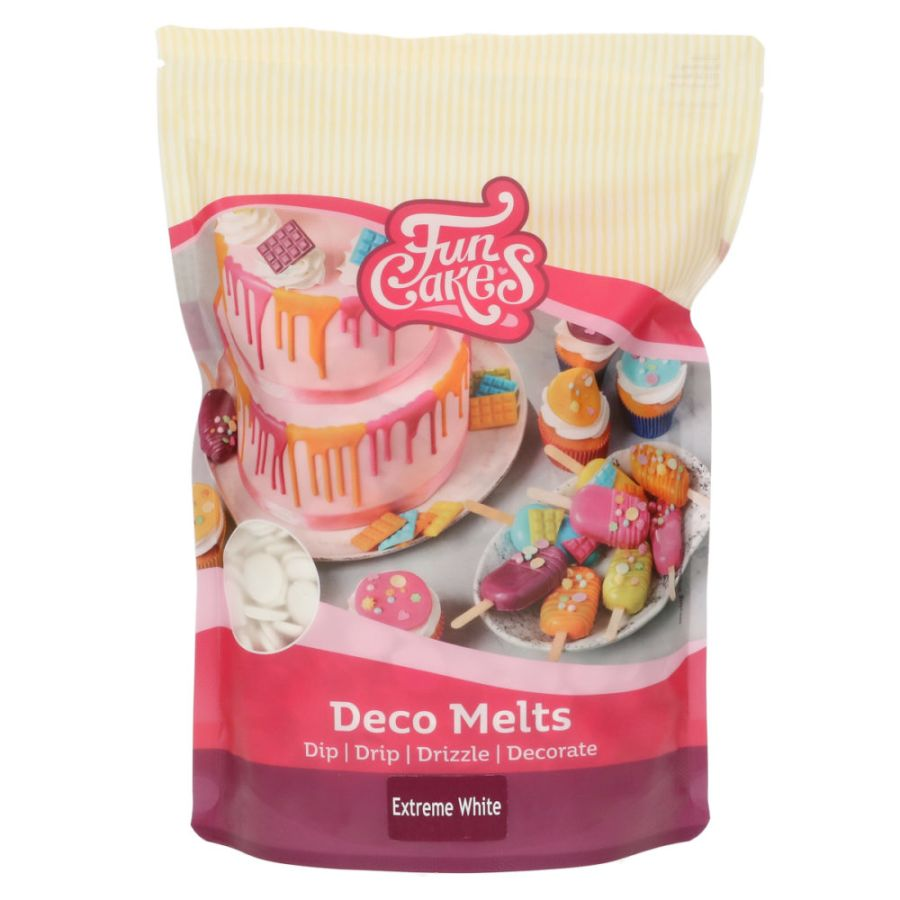 Extreme White Deco melts FunCakes 250g Drip Dip Drizzle