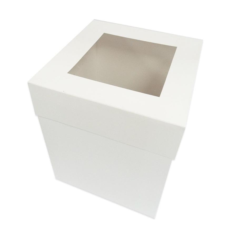12 Inch White EXTRA DEEP Cake Box 12 x 12 x 11.8 inch Window
