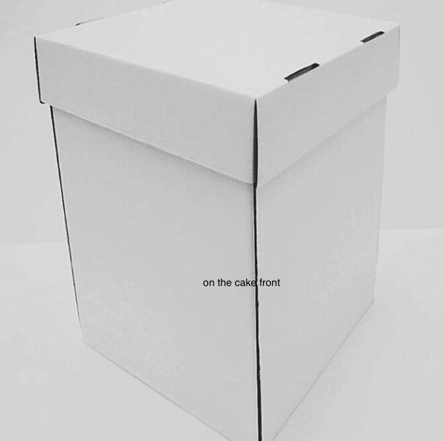 12 Inch MEGA DEEP Cake Box 12 x 12 x 20 inch Heavy Duty