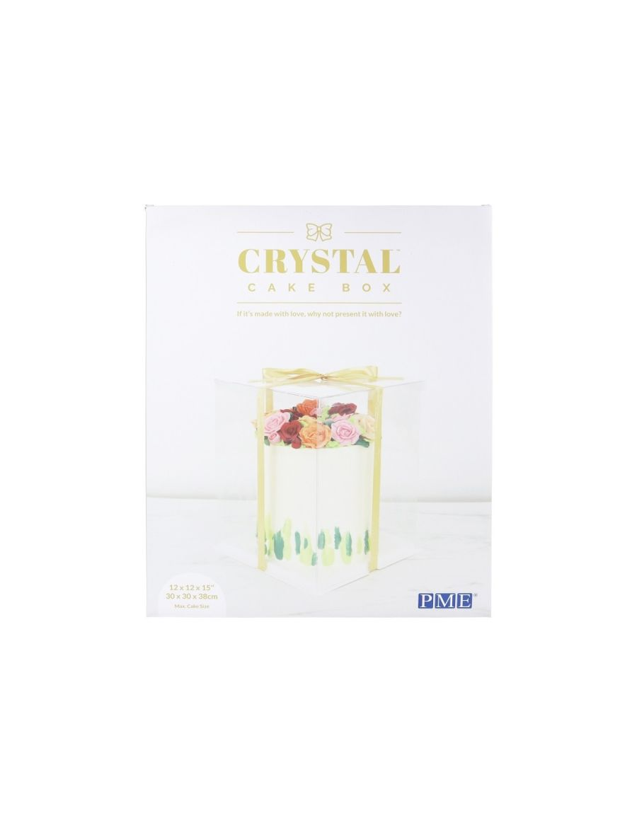 12 INCH Crystal Clear Cake Box 15 inch tall PME
