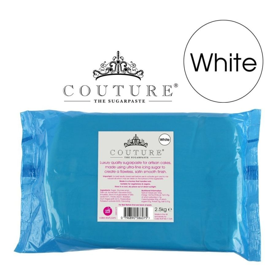 COUTURE Luxury Sugarpaste Ready To Roll Icing White 2.5kg