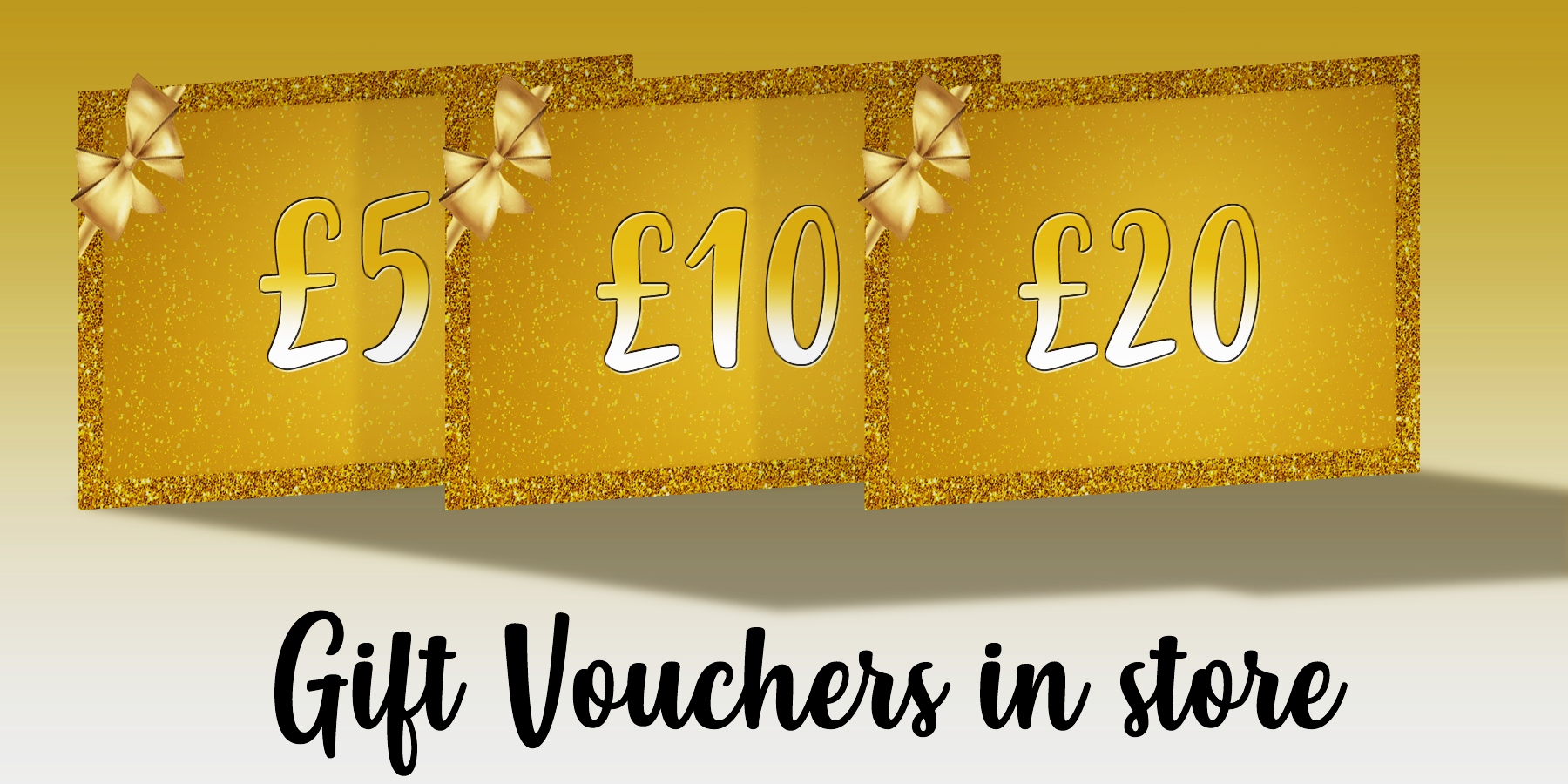 Gift Vouchers in any amount now available