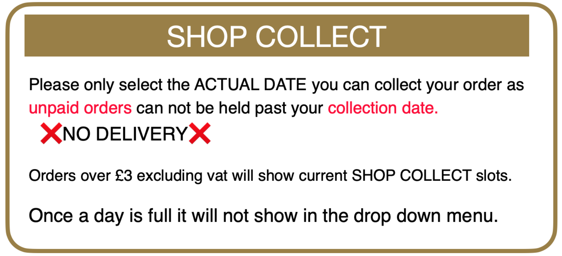 Shop collect guide