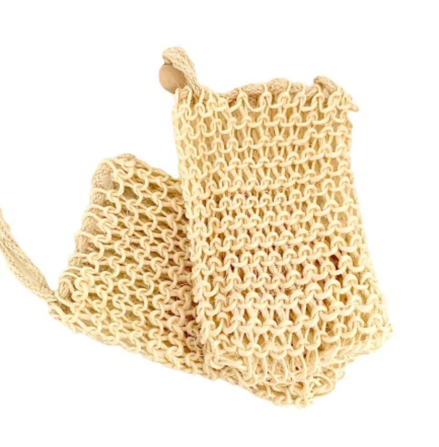 Washed Jute Nature Soap Bag