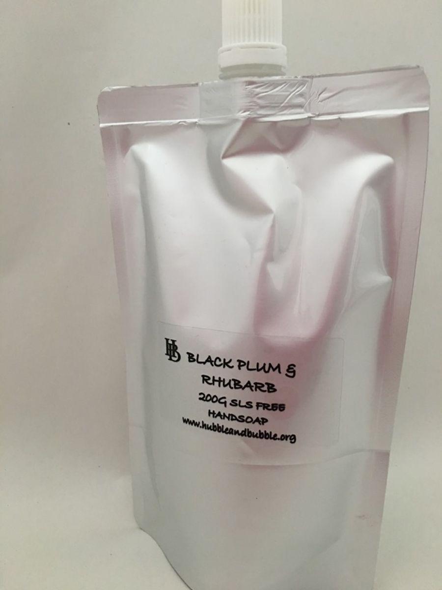 BLACK PLUM & RHUBARB HAND SOAP 200g REFILL