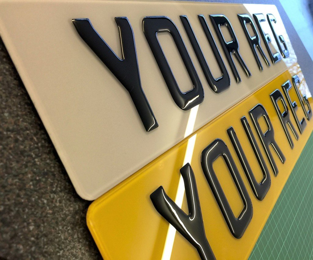 GLOSS BLACK 3D GEL RESIN DOMED NUMBER PLATES RESIN GEL NUMBER ...