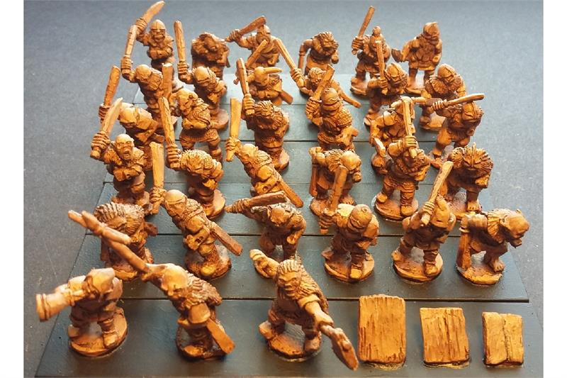 Orcian Swordsmen with Shields (35 figures)