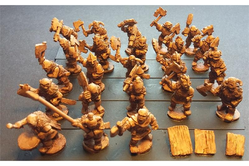Orcian Axemen with Shields (35 figures)